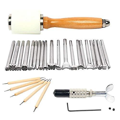 S SMAUTOP Herramientas artesanía cuero 27 piezas