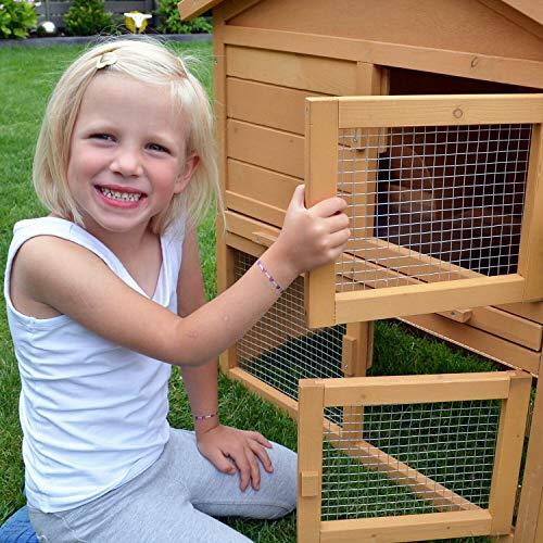 Stall Nr 1 Kaninchenstall Hasenstall Kaninchenkäfig Hasenkäfig Meerschweinchenstall - 6