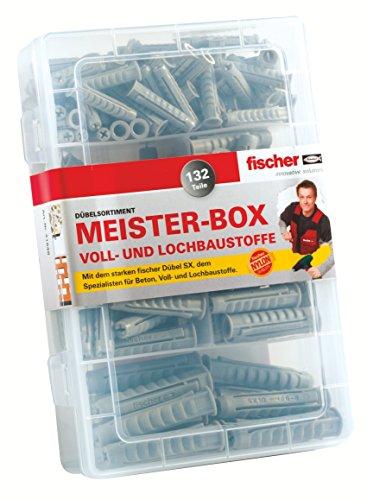 Fischer SX Dübel Sortiment Box, Größe 6/8/10, 132 tlg.