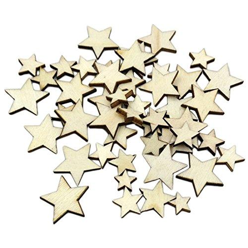 Estrellas madera aglomerada decoración hogar, manualidades