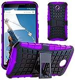 G-Shield Coque pour Motorola Google Nexus 6, Housse Étui de Protection avec Support, Violet
