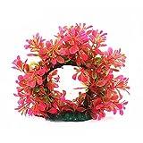 bismarckbeer Künstliche Kunststoff Wasser Pflanze Zirkular Höhle Baum Fisch Tank Aquarium Dekoration