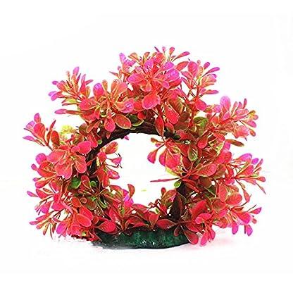 Pengyu Vivid Simulation Plant Creature Aquarium Landscape Fake Aquarium Plant Arches Tree Ornament Fish Tank Plastic… 1