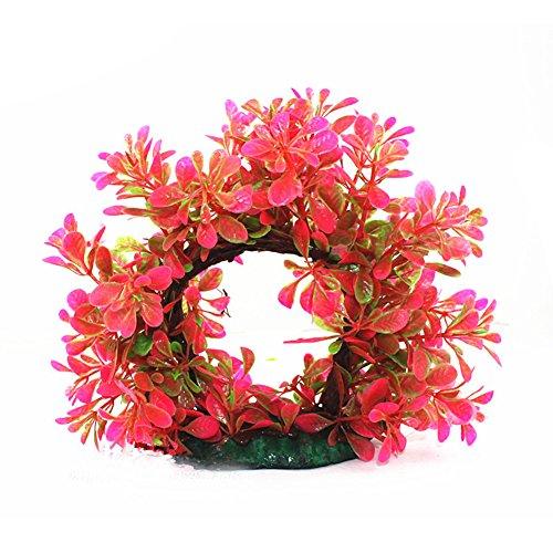 Greenlans Finto acquario Plant Arches albero ornamento Fish Tank plastica decorazione Tool–verde, plastica, Pink, taglia unica