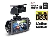 Gazer F117 Car DVR Full HD 1080p Stealth Dash Cam with G-sensor/WDR/140 Degree