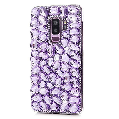Kircher Samsung Galaxy S10 Plus Hülle Bling Handgefertigte Kristall Sparkle Full Diamant Strass Back Case Cover für Samsung Galaxy S10 Plus (Nicht für S10), violett Strass Back Cover