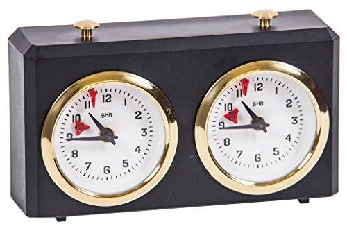 BHB Classic Reloj de Ajedrez Analógico Mecánico color Negro