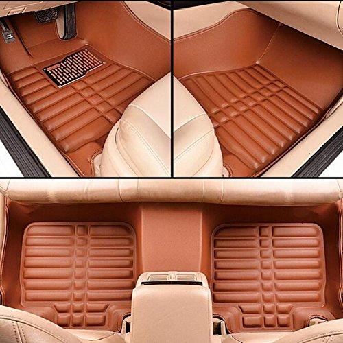 PENG Alfombra de piso de coche rodeada de alfombras de cuero tridimensionales impermeables a la suciedad fáciles de limpiar alfombras de coche
