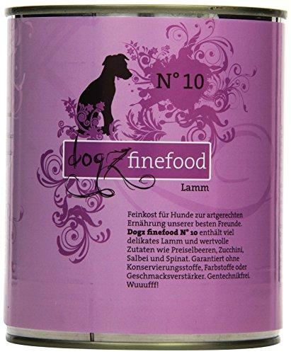 Dogz finefood Cani mangime No. 10Agnello 800G, Confezione da (6X 800G)