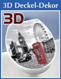 Wenko 3D-WC-Deckelaufkleber London - ca. 33