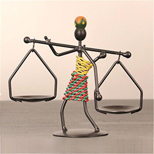 Youxd Handwerk Moderne Kreative Eisen Kerzenständer Metall Handgemachte Handwerk, Für das Wohnzimmer Büro Eingang Home Desktop Dekoration Dunkelbraun