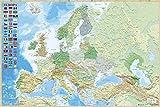 Grupo Erik Editores   Poster Mapa Europa Es Fisico Politico