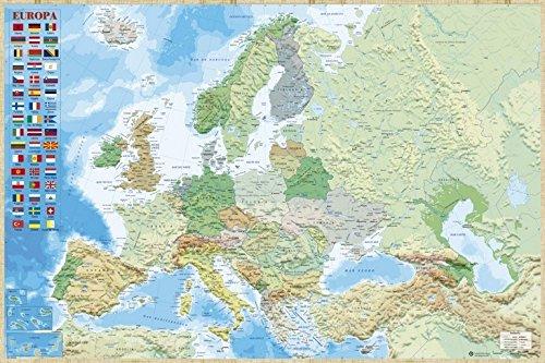 Grupo Erik Editores Poster Mapa Europa Es