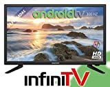 TV LED 24' INFINITON INTV-24 300Hz Android TV/Smart TV - WiFi - HDR USB HDMI