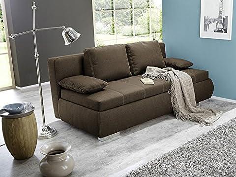 Dauerschläfer Schlafsofa Merlin 210x112cm braun, Sofa Boxspring Couch Doppelliege