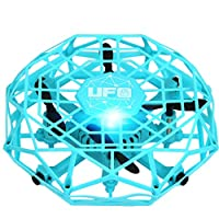 Zinniaya TL123 UFO Mini Drone Helicopter RC Quadcopter Sensing and Lights Indoor Toy