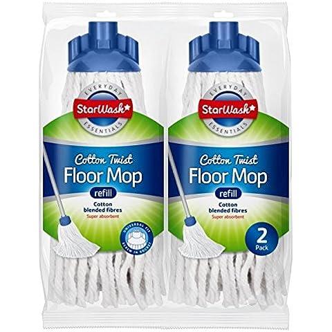 2cabezales de algodón Twist Mopa Super absorbente