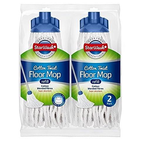 2 Cotton Twist Floor Mop Heads Super Absorbent