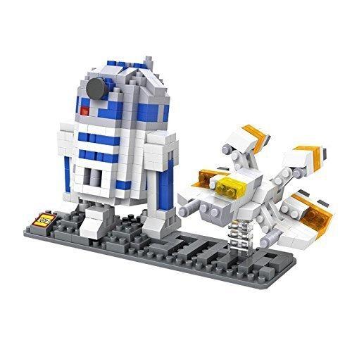 Preisvergleich Produktbild LOZ Star Wars Diamond Nano-Block(mini blocks) 2 pc set- R2D2 & Fighter with BOX! by Let them Be Little
