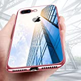 iPhone 8 Plus Hülle, iPhone 7 Plus Silikonhülle,KKtick Schutzhülle Apple iPhone 8 Plus Kratzfeste Plating TPU [Ultra Slim] Rutschfeste Handyhülle für iPhone 8 Plus/iPhone 7 Plus Case Cover- Rose Gold