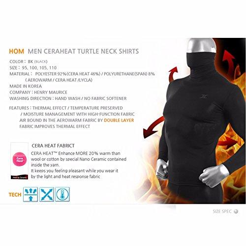 Mens-Turtleneck-Shirts-Thermal-Top-Base-Layer-Compression-Long-Sleeve-Black-HOM