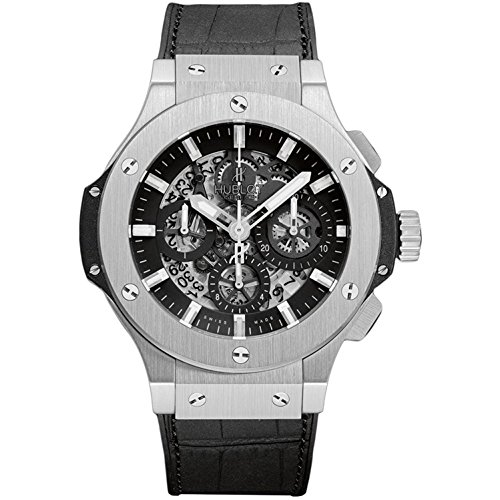 HUBLOT MEN'S BLACK RUBBER BAND STEEL CASE AUTOMATIC WATCH 311.SX.1170.GR