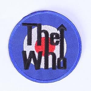 """ecusson patch badge appliqué brodé thermocollant rock broderie pour vêtement vetements couture veste jeans patch ecusson thermocollant """" the who 7 cm"""""""
