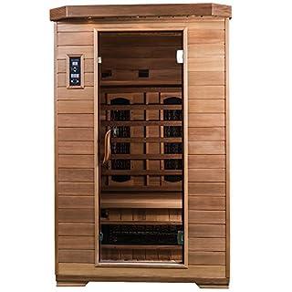 SaunaMed 2 Person Luxury Cedar FAR Infrared Sauna EMR Neutral™