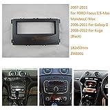 zwnav KFZ Audio Radio Einbaurahmen Armaturenbrett für Ford Focus II, Mondeo, S-Max, C-Max 2007–2011; Galaxy II 2006–2011; Kuga 2008–2012(schwarz) Stereo Faszie Dash CD Trim Installation Kit