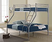 Happy Beds Nexus Quality Metal Triple Sleeper Bunk Bed Furniture 2x Mattress New