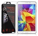 Cadorabo Panzer Folie für Samsung Galaxy Tab 4 (8 Zoll) - Schutzfolie in KRISTALL KLAR – Gehärtetes (Tempered) Display-Schutzglas in 9H Härte mit 3D Touch Glas Kompatibilität