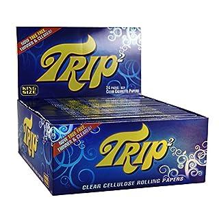Trip 2 transparente Blättchen aus Zellulose durchsichtige Papers 1 Box (24x) Trip2 Papers