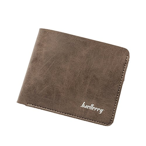 Ulisc Wallet Men Leather Wallets Male Purse Money Credit Card Holder Genuine Coin Pocket Brand Design Money Billfold Clutch (Card Billfold Wallet Holder)