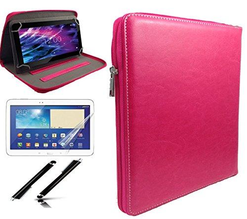 3in 1Starter Set–25,7cm Zoll Reißverschluss Fall +, Bildschirm, + Touch Pen für Acer Iconia One 10b3-a30Tablet–Reißverschluss pink 3in 1