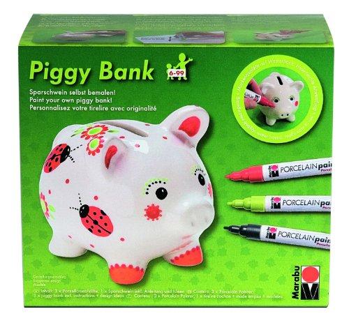 gy Bank Porcelain Painter MalsetSatz (Ein Stück Piggy Bank)
