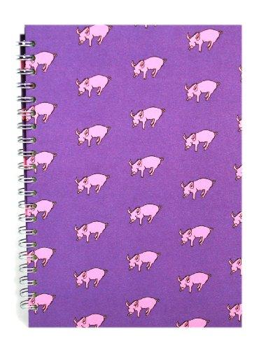 Pink Pig Posh Skizzenbuch mit weißen Seiten, A4, Schweine-Motiv, Violett (Pink Posh In)