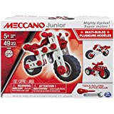 Meccano Junior -Mighty Cycles, 3 Model Building Set, 49 Pieces, For Ages 5+, STEM Construction Education Toy