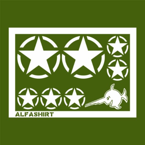 militaire-us-army-stickers-etoile-blanc-army-tuning-set-de-31-cm-x-20-m-a082