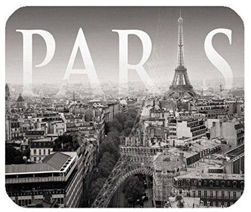 Fashion Area Black View of Paris Gaming Custom Classic Style Pad Customized Rectangle Mouse Pad Computer - Custom Paul Les Classic
