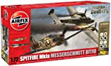 Airfix A50128 Dogfight Doubles Messerschmitt Bf110C/D and Supermarine Spitfire MkIa 1:72 Scale Plastic Model Gift Set