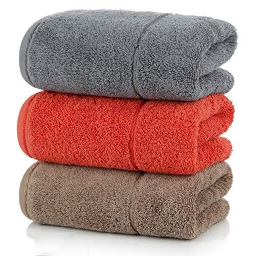 BNBO-L HWH Baumwolltuch, verdicken Baumwolle Waschen Sie Ihr Gesicht Waschlappen Haushalt Erwachsenes Paar Kind Weiche Wasseraufnahme Handtuch 3 stücke Saugfähige Handtücher (Farbe : A)