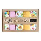 LULANDO Stoffwindeln und Moltontücher 70x80cm (5er Set). Waschbare Windeln und Spucktücher für Ihr Baby. Farbe: Bunte Bienen