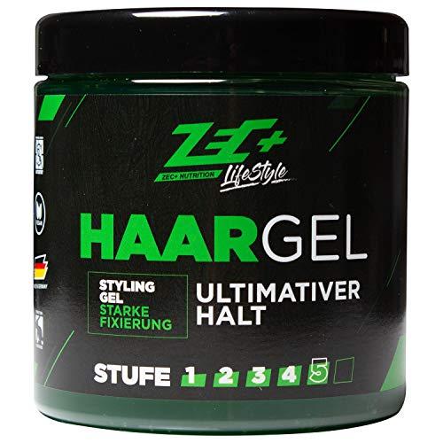 ZEC+ Lifestyle Haargel, Zec Plus Haarstyling Gel für ultra starken Halt ohne Verkleben, alkoholfreies Styling Gel schützt die Kopfhaut vor dem Austrocknen, mit spektakulärem Duft, 500 ml