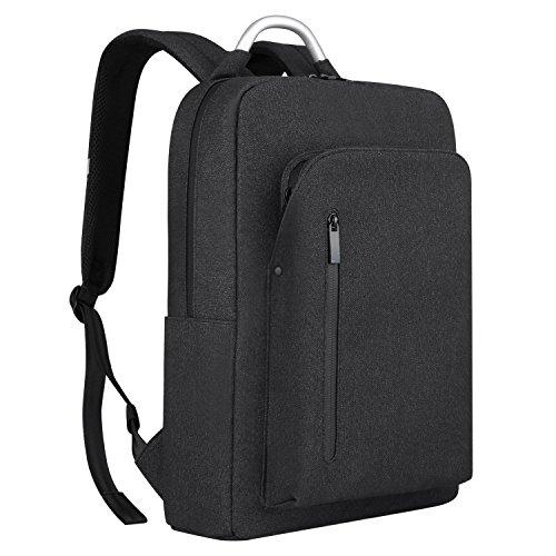 Imagen de  portátiles 15.6, reyleo morrales impermeables laptop backpack para hombre mujer estudiante tipo casual al negocio trabajo casual 19l gris oscuro