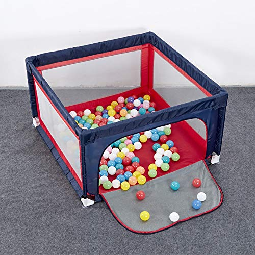 Playpens Extra Large Baby Play Yard for Kids/Toddler, Safety Portable Playard Children's Game Fence, 70cm Height, Red and Blue (Size : 120×150cm)  HWF Shop