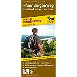 Wanderkarte Leporello RheinBurgenWeg: Mit Ausflugszielen, Einkehr- & Freizeittipps, wetterfest, reißfest, abwischbar, GPS-genau. 1:25000