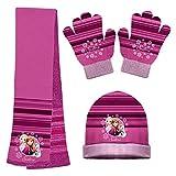 Frozen Mädchen Handschuh-Set One size Gr. One size, Rose