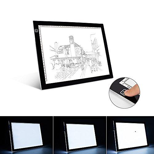 A4 Leuchttisch A4 LED Leuchtkasten Ultra-dünne tragbare LED-Licht-Box Tracer USB Power LED Artcraft Tracing Licht Pad Light Box für Künstler, Zeichnung, Skizzieren, Animation