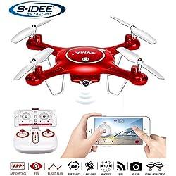 S de Idea® 01652x5uw cuadricóptero Syma WiFi HD cámara FPV Altura estabilización, headless Mode VR posible, dron 360° Función Flip, 2.4GHz con Gyro, 4canales, de 6Axis Sistema Drone con Camera 720P