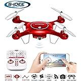 s-idee® 01652 X5UW Quadrocopter Syma Wifi HD Kamera FPV Höhenstabilisierung, Headless Mode VR möglich, Drohne 360° Flip Funktion, 2.4 GHz mit Gyro, 4-Kanal, 6-AXIS System Drone mit Camera 720p